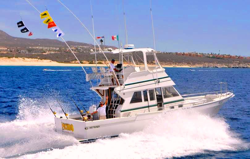 Picudo 45ft sport fisher los cabos craig leonard for How much is a fishing license in california